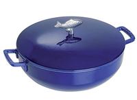 """Сотейник Staub """"соты"""" с чугунной крышкой 28 см 4.65 л темно-синий 1112991"""
