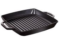 Сковорода-гриль Staub квадратная c 2 ручками 28х28 см черная 12012823