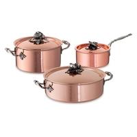 Набор посуды 3 предмета: кастрюля 3,5 л, ковш 1,6 л, сотейник 5 л серия Opus Cupra RUFFONI