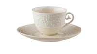 Фарфоровая чашка кофейная с блюдцем 110 мл «Джорджия Айвори» JL Coquet 00010523392