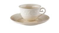 Фарфоровая чашка чайная с блюдцем 160 мл «Джорджия Айвори» JL Coquet 00010523393