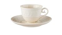 Фарфоровая чашка для мокко с блюдцем 90 мл «Джорджия Айвори» JL Coquet 00010523394
