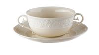 Фарфоровая чашка суповая с блюдцем 300 мл «Джорджия Айвори» JL Coquet 00010524330