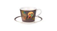 """Чашка чайная с блюдцем 200мл """"Сара Миллер. Челси"""" (темно-серая) 00010613416"""