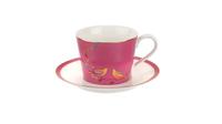"""Чашка чайная с блюдцем 200мл """"Сара Миллер. Челси"""" (розовая) 00010613417"""