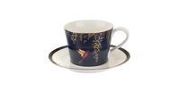 """Чашка чайная с блюдцем 200мл """"Сара Миллер. Челси"""" (темно-синяя) 00010613418"""