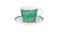 """Чашка чайная с блюдцем 200мл """"Сара Миллер. Челси"""" (зеленая) 00010613419"""