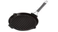 Сковорода для гриля Staub круглая черная с силиконовой ручкой 27 см 1202023