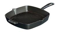 Сковорода-гриль квадратная Staub 30х30 см черная 1202823