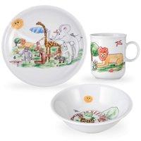 Сервиз детский 3 предмета Zoo Seltmann Weiden (кружка, тарелка 20 см, салатник 16 см)
