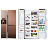 Холодильник Hitachi R-M 702 GPU2X MBW коричневый зеркальный