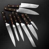 Набор из 8-и кухонных ножей на подставке из бука, серия Crafter, WUESTHOF, 7262 Crafter, Золинген, Германия