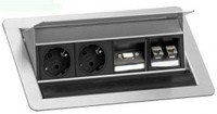 Модульный блок на две розетки и два разъема RJ-45, один VGA Evoline 934.20.207
