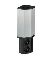 Модульный блок с двумя розетками и два USB Evoline 934.50.003 черный