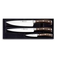 Набор ножей 3 штуки WUESTHOF серия Ikon 9600 WUS