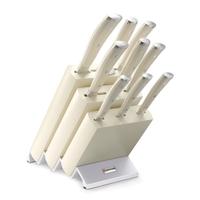Набор кухонных ножей 9 предметов в подставке WUESTHOF серия Ikon Cream White 9874