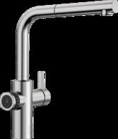 Смеситель Blanco EVOL-S Volume нержавеющая сталь (рычаг управления справа)