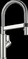 Смеситель Blanco SOLENTA-S Senso нержавеющая сталь UltraResist (рычаг управления справа)