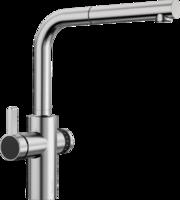 Смеситель Blanco EVOL-S Volume нержавеющая сталь (рычаг управления слева)