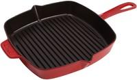 Сковорода-гриль квадратная Staub вишневая 26см 1202906