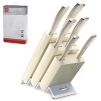 Набор ножей 6 предметов в подставке WUESTHOF серия Ikon Cream White  9877 WUS