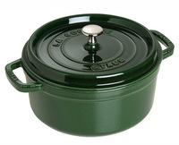 Кокот круглый  Staub 24 см 3,8 л зеленый базилик 1102485