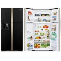 Холодильник Hitachi R-W 722 FPU1X GBK черное стекло